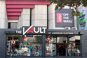 American Clothing| New store| The Vault